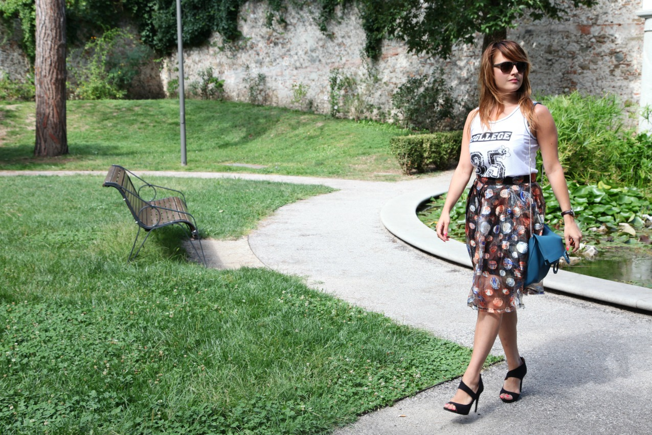 Verde, storie di anima ed una gonna romantica, alessia milanese, thechilicool, fashion blog, fashion blogger, klikey