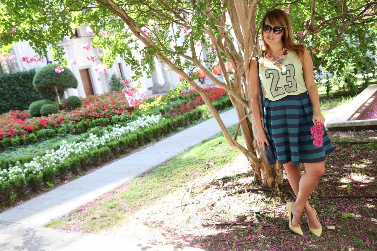Righe, verde e la giusta dimensione delle cose, alessia milanese, thechilicool, fashion blog, fashion blogger