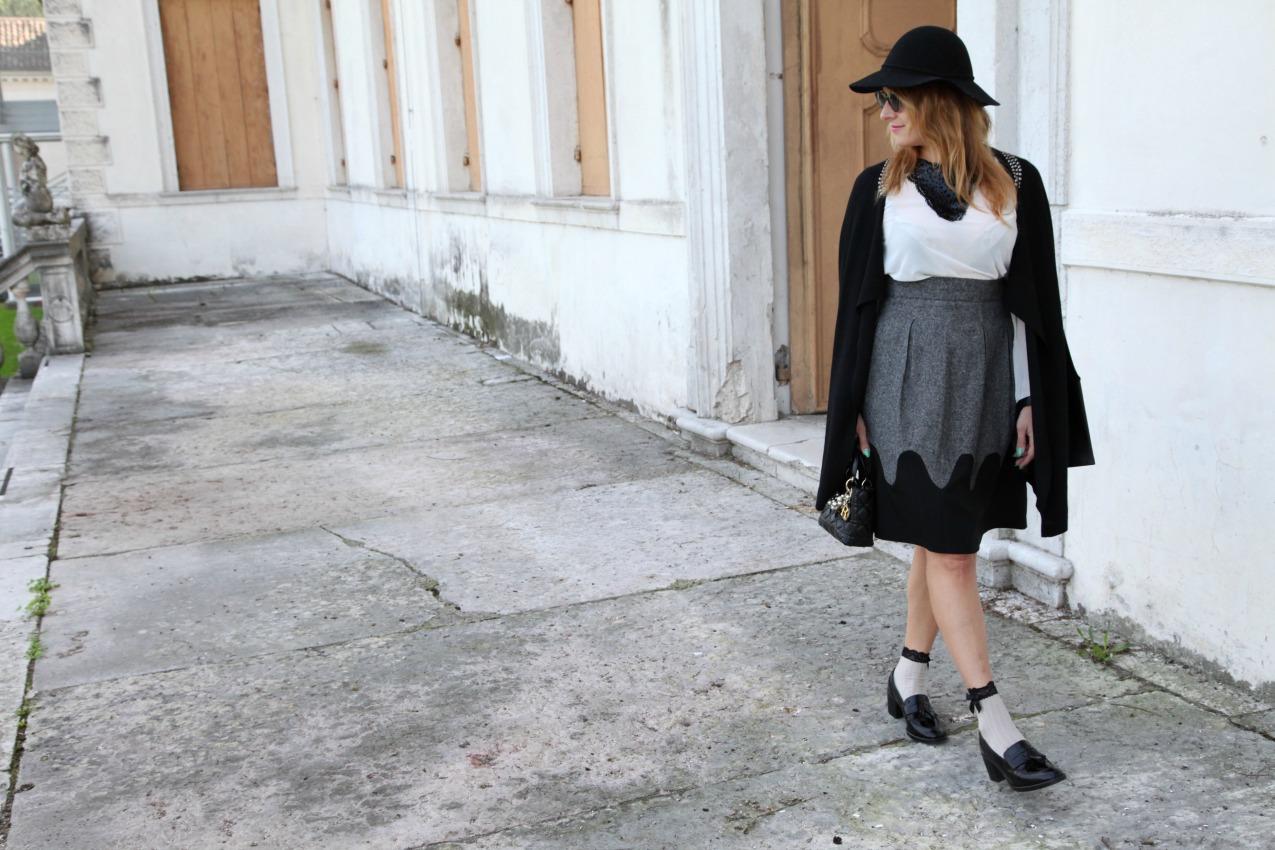 Scent of black: gonne romantiche, tacchi e fiocchi, alessia milanese, thechilicool, fashion blog, fashion blogger, lady dior bag, deichmann italian blogger collection