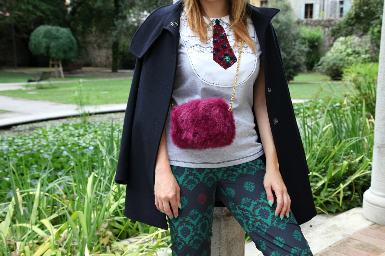 #DandyLook: tee & pants con dettagli preziosi, alessia milanese, thechilicool, fashion blog, fashion blogger, alessia milanese x deichmann , italian blogger collection