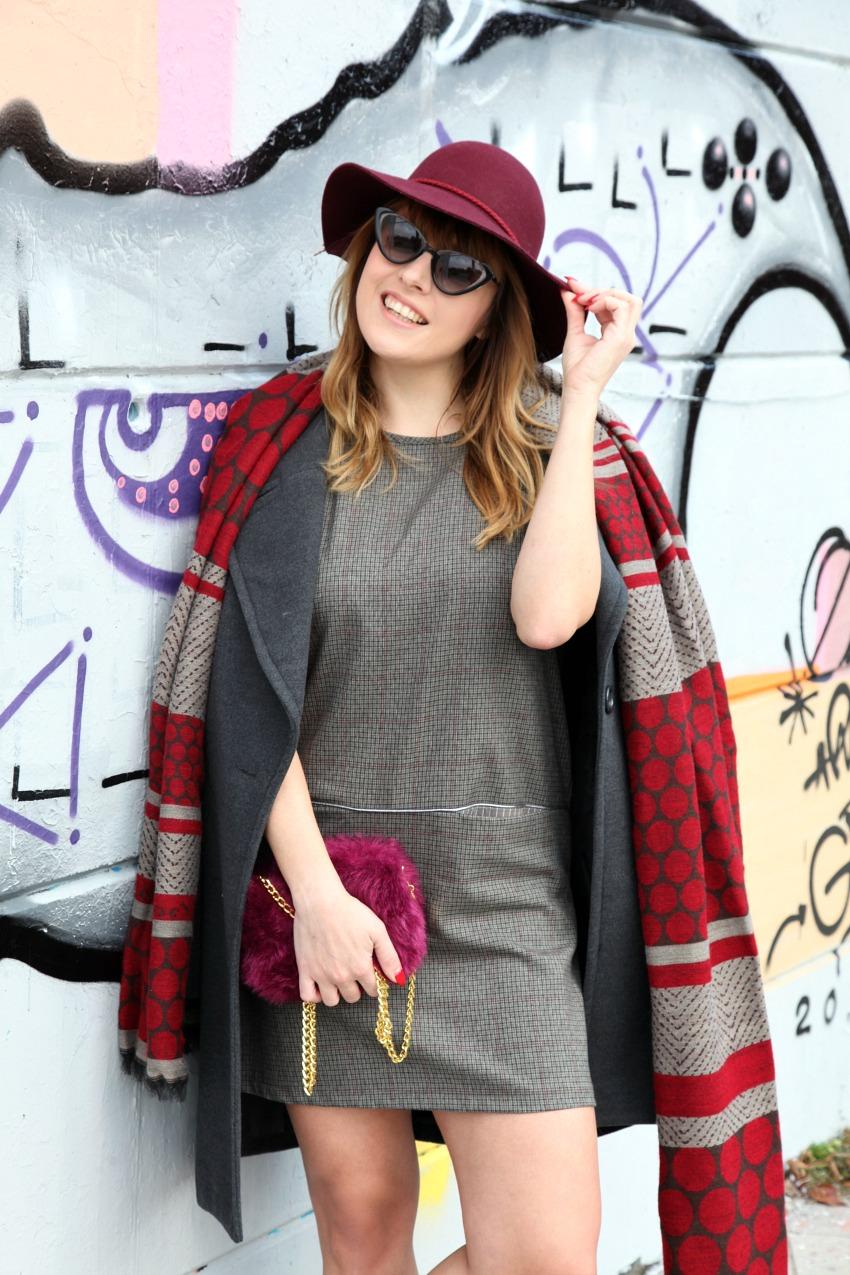 Sfumature, quadri da dipingere e sciarpe color burgundy, alessia milanese, thechilicool, fashion blog, fashion blogger , alessia milanese x deichmann