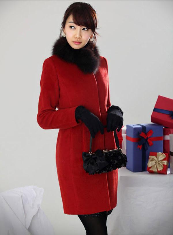 AliExpress - Cappotto rosso con pelliccia