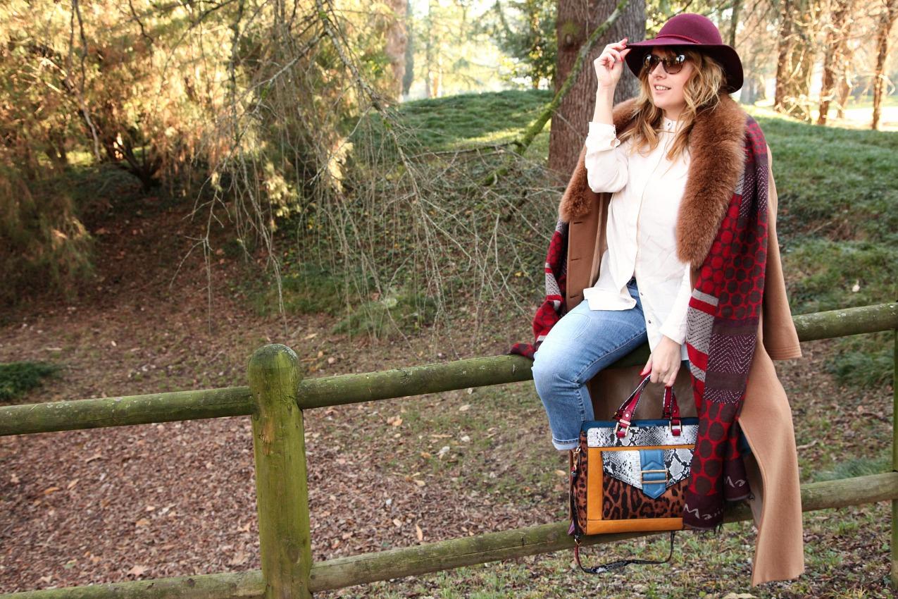 Passeggiate nel parco, giochi di luce e burgundy, alessia milanese, thechilicool, fashion blog, fashion blogger