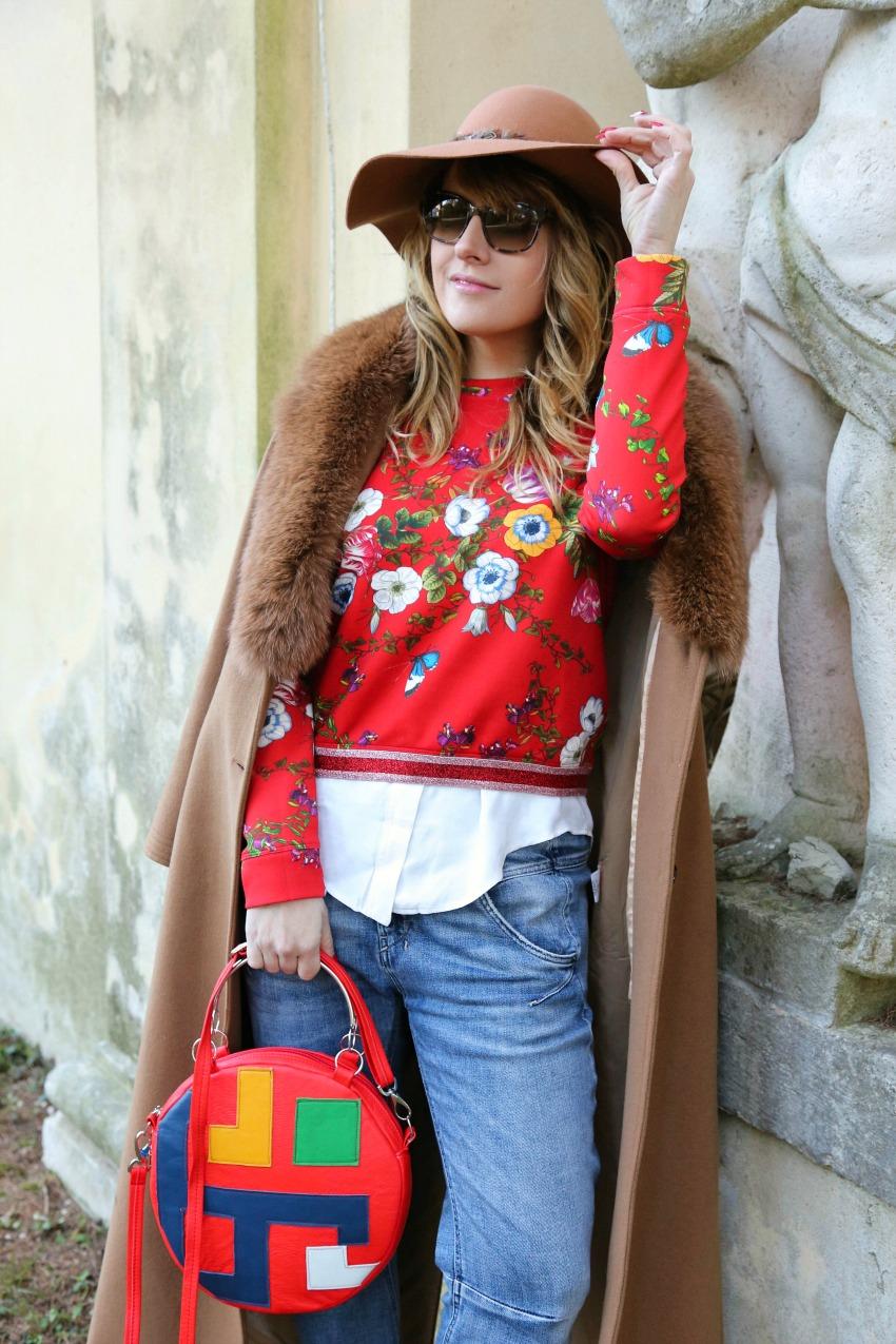 Storie di rosso, parchi e sfumature, alessia milanese, thechilicool, fashion blog, fashion blogger, mnc by martina tittonel
