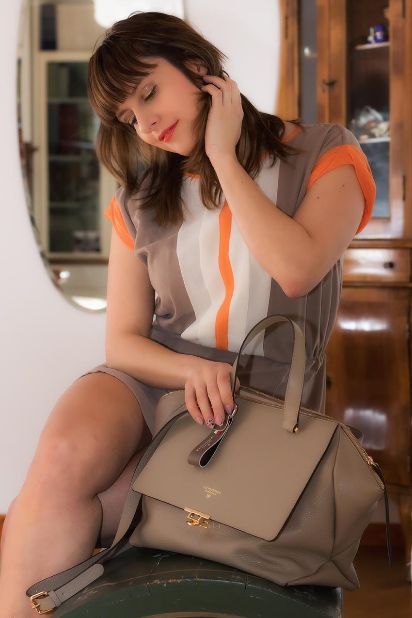 Come abbinare la borsa color taupe: scelte di stile con Cuoieria Fiorentina, alessia milanese, thechilicool, fashion blog, fashion blogger