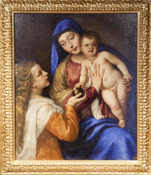 Madonna Barbarigo opera del Tiziano