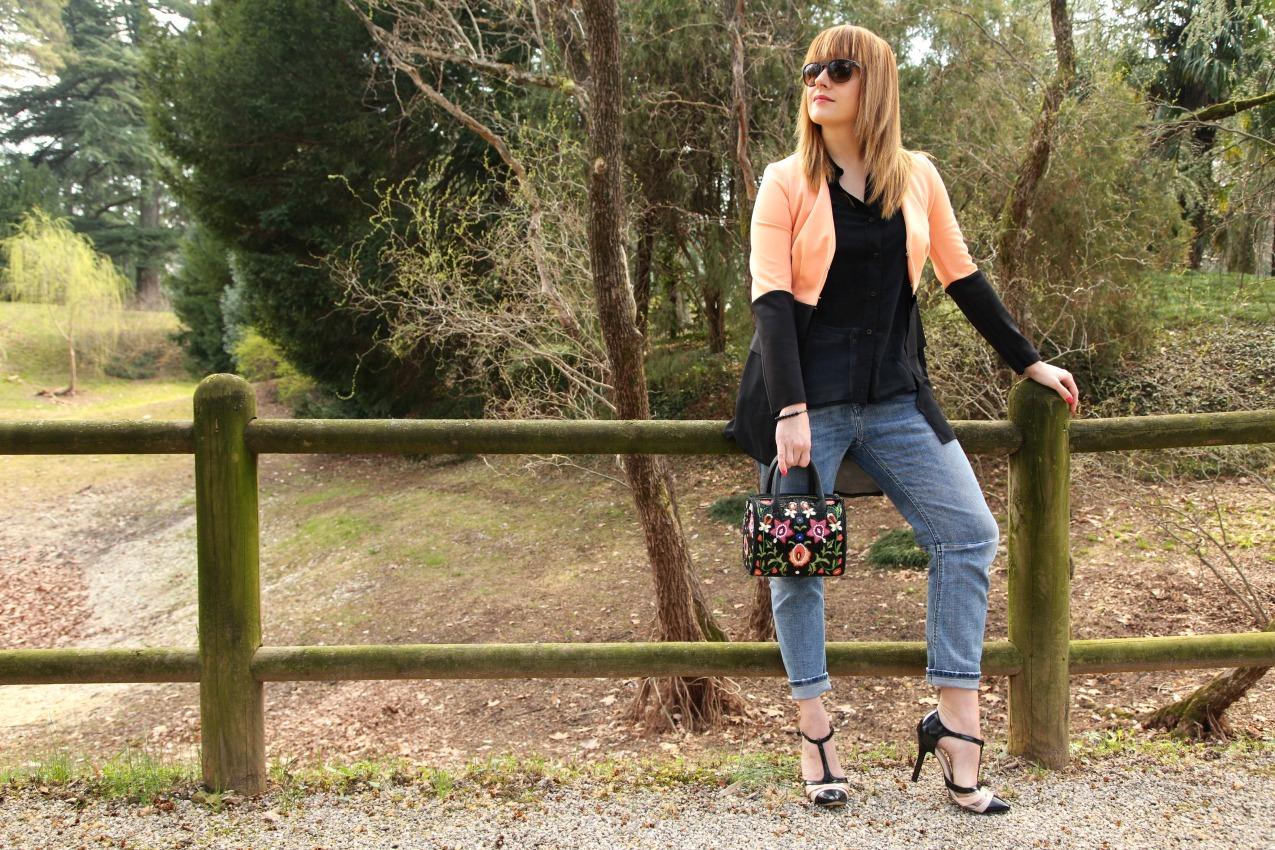Tulle e desideri. Nero e rosa salmone, alessia milanese, thechilicool, fashion blog, fashion blogger
