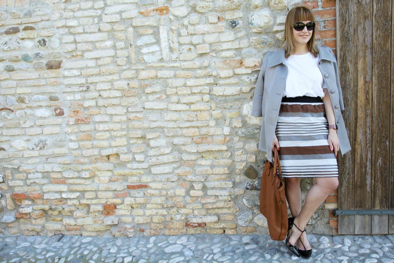 Righe, grigio e punti di partenza, alessia milanese, thechilicool, fashion blog, fashion blogger