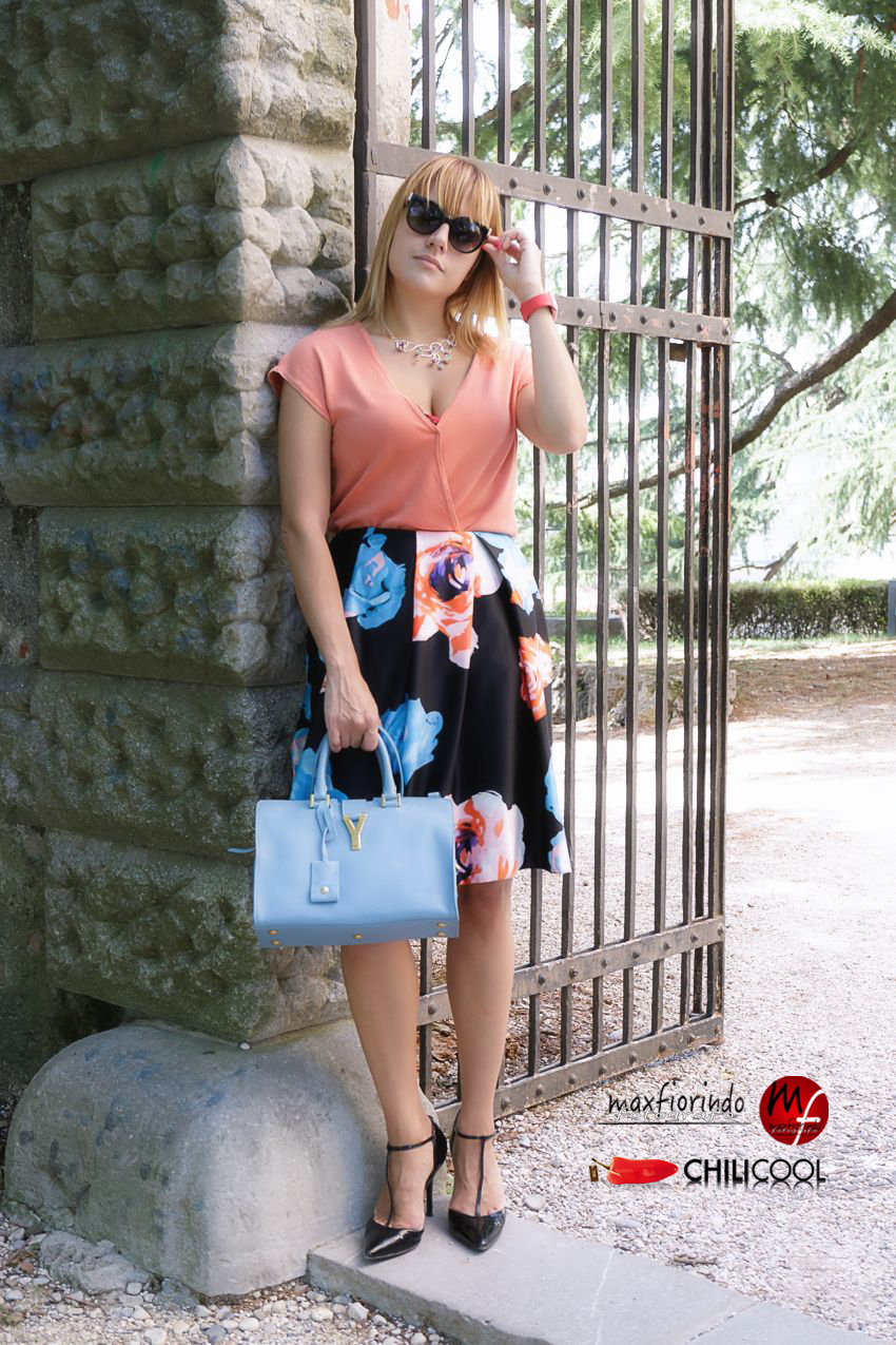 Sfumature d'estate, fra azzurro e rosa salmone, alessia milanese, thechilicool, fashion blog, fashion blogger