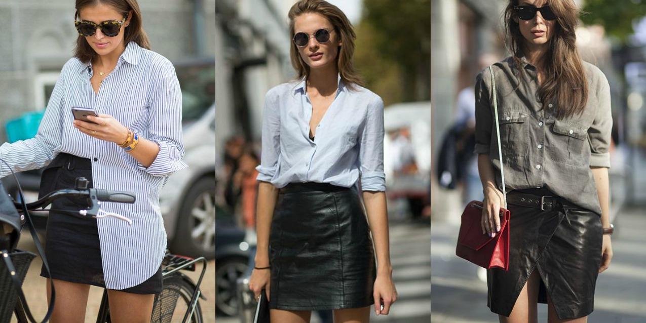 selezione migliore 735a7 02735 Come abbinare la gonna di pelle: 8 consigli di stile ...