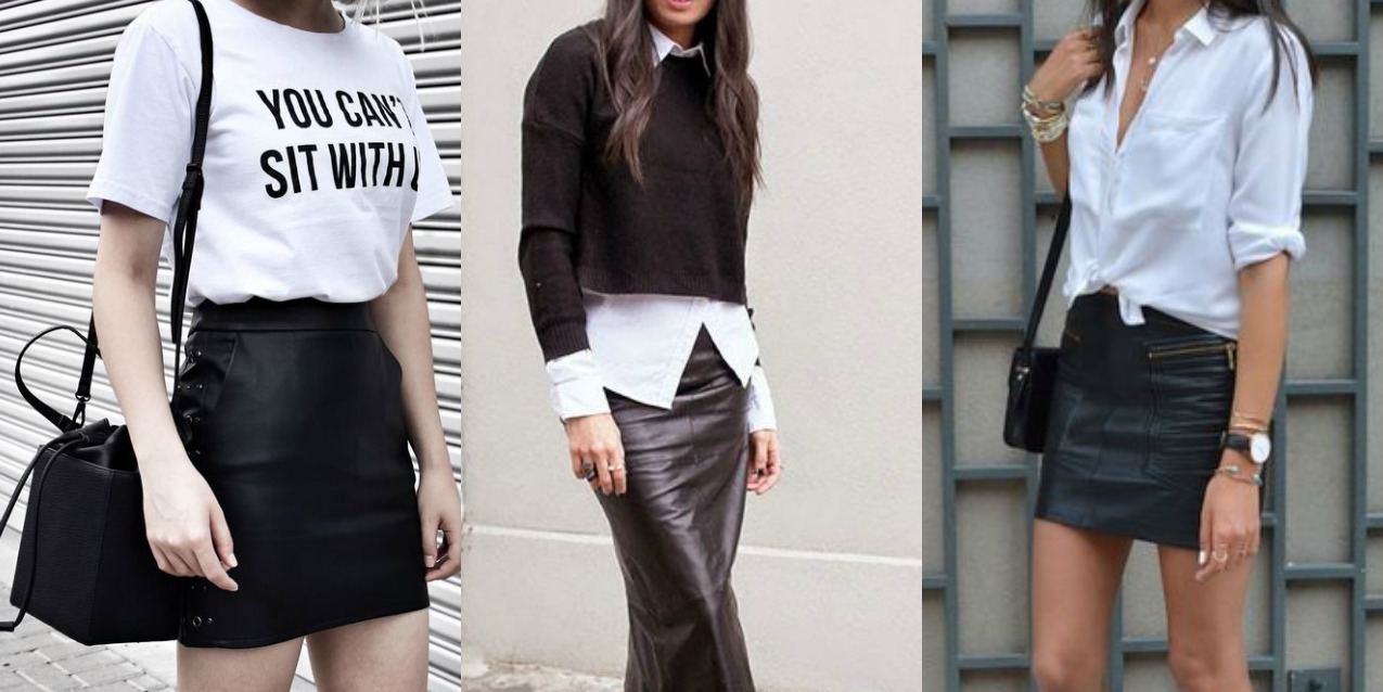 c9fd9b1f9f2a Come abbinare la gonna di pelle  8 consigli di stile - TheChiliCool Fashion  Blog Italia