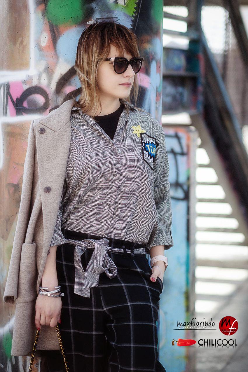 #ChiliOutfit: geometrie di quadri e sogni in divenire, alessia milanese, thechilicool, fashion blog, fashion blogger , amazon moda