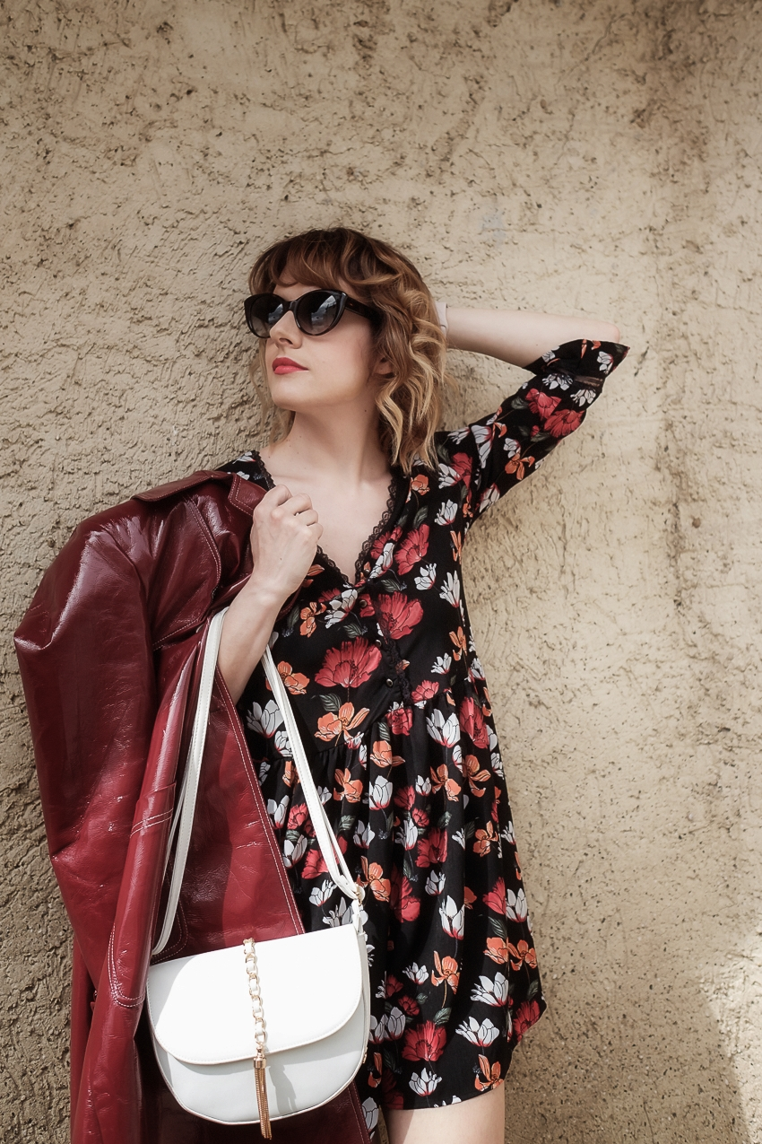 #ChiliOutfit: come abbinare il trench rosso in vinile, alessia milanese, thechilicool, fashion blog, fashion blogger