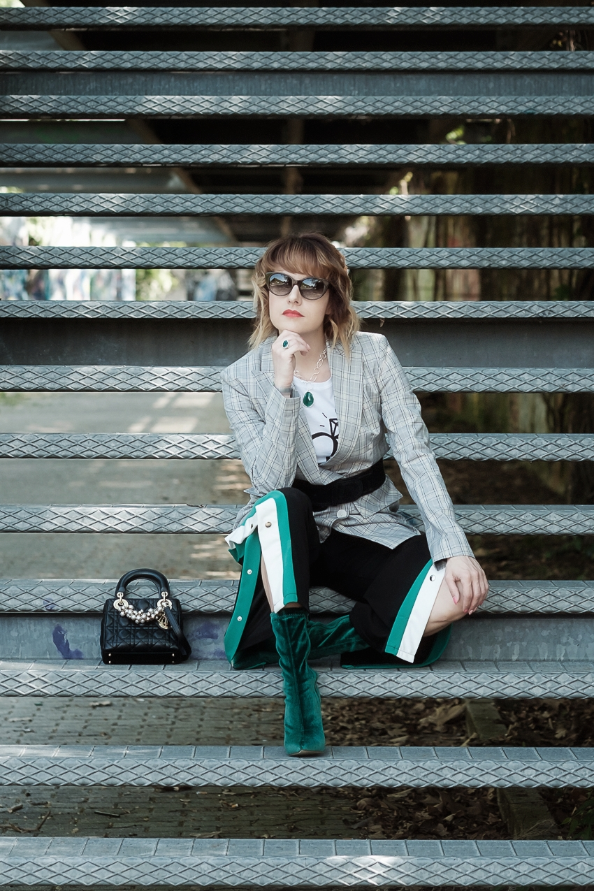 #ChiliOutfit: storie di città addormentate, quadri e verde, alessia milanese, thechilicool, fashion blog, fashion blogger