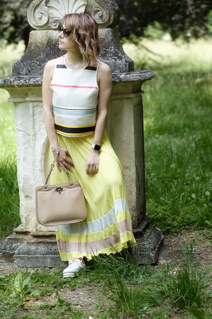 #ChiliOutfit: come indossare la gonna plissè, alessia milanese, thechilicool, fashion blog, fashion blogger, princesse metropolitaine