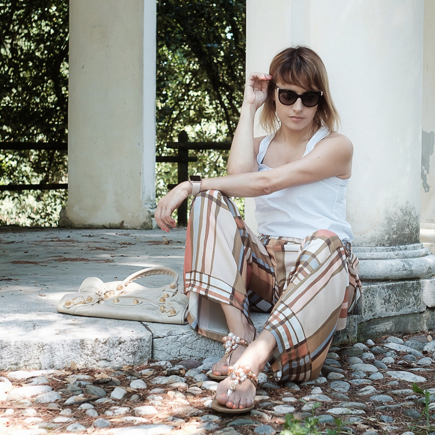 #ChiliOutfit: Pantaloni palazzo, come indossarli e come abbinarli, alessia milanese, thechilicool, fashion blog, fashion blogger , gardini spirit sandals